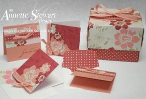 Oragami box with contents