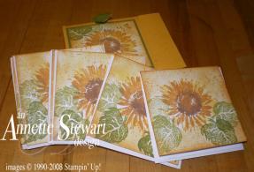 Sunflower notecard set