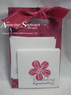 Note card gift set red