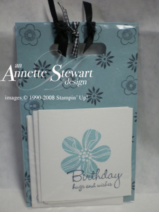 Note card gift set blue
