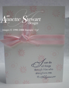 Eastern elegance white and pink card