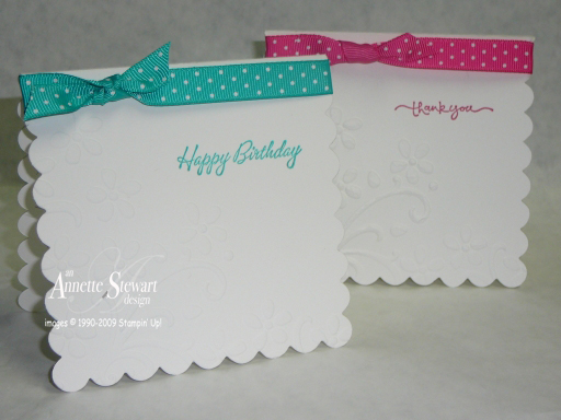 Square scallop die card