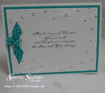 Gift bag embossed Christmas card 2