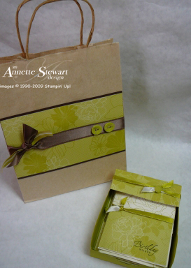 Gift bag - green with set