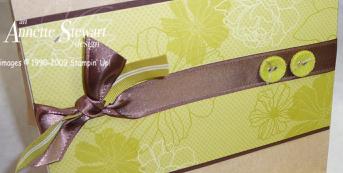 Gift bag green close up
