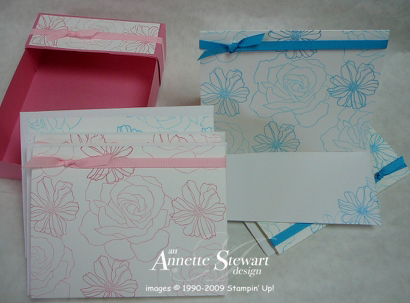 Gift bag - pink card set