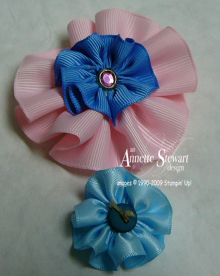 Ribbon flower samples 2