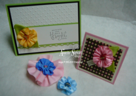 Ribbon flower samples