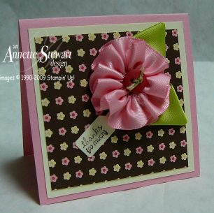 Ribbon flowers sample 3