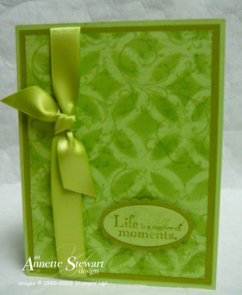 Lattice card green