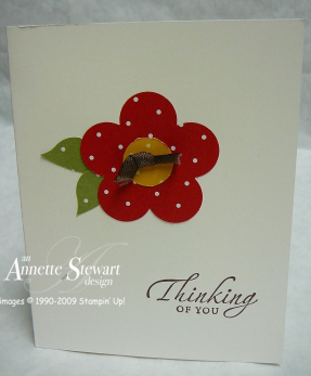 XL fancy flower card