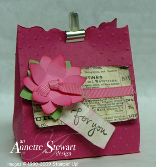 Newsprint fancy favor box