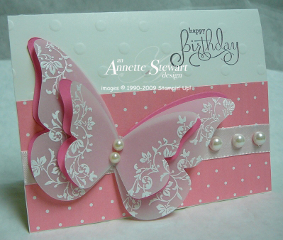 Butterfly die card