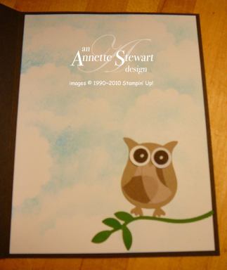 Owl card inside