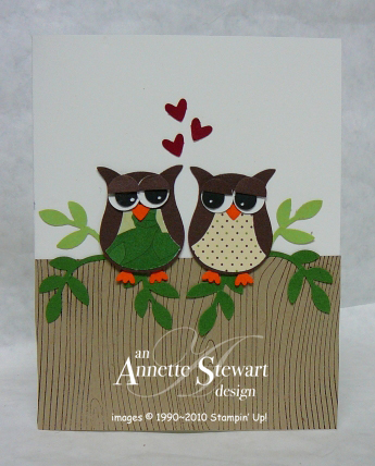 OWLS PERCHED CARD