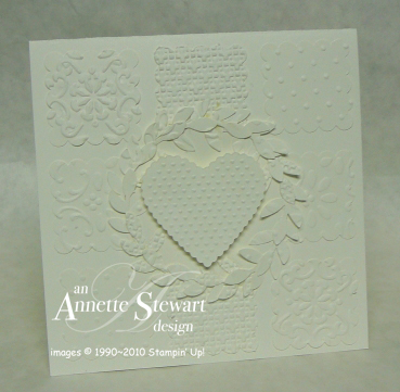 Embossed White on White Card
