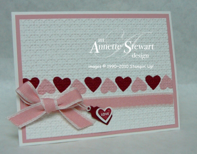Square Lattice heart inlaid card