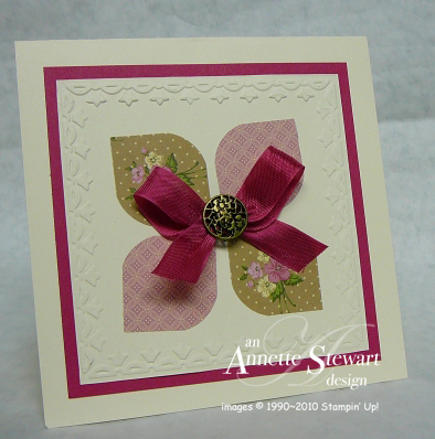 Square punch flower card
