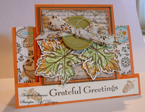 Grateful step card