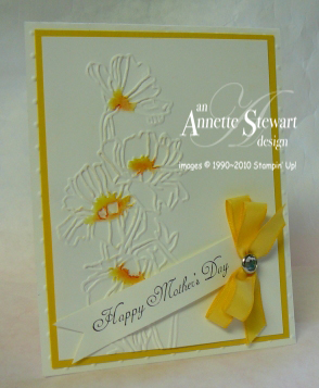 Flower garden folder mothers day card