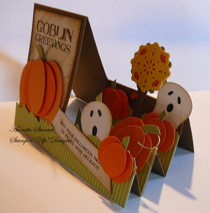 Pumpkin step card sideview