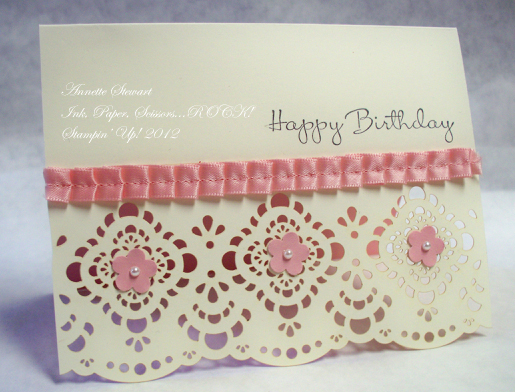 Designer cuts b'day card