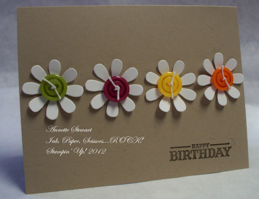 Crumbcake daisy card copy
