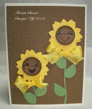 Smiley sunflowercard