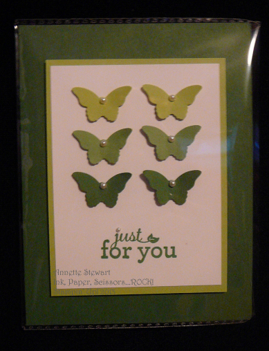 Bitty Butterfly Green