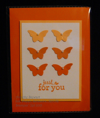 Bitty Butterfly Orange