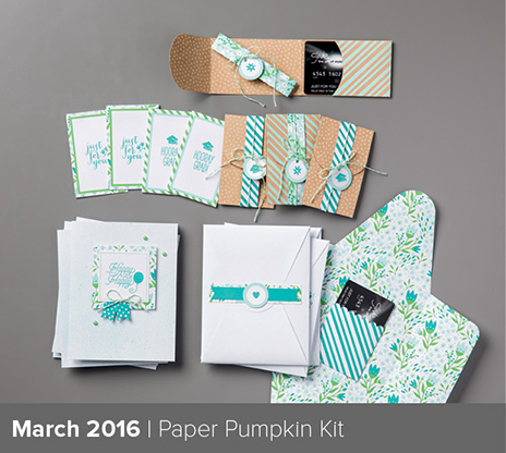 March Paper Pumpkin kit